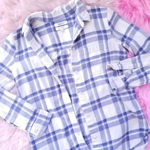 MADEWELL Flannel Classic Ex-Boyfriend Shirt XXS